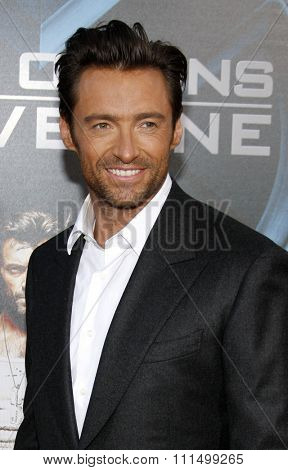 Hugh Jackman at the Los Angeles premiere of 'X-Men Origins: Wolverine' held at the Grauman's Chinese Theatre in Hollywood on April 28, 2009.