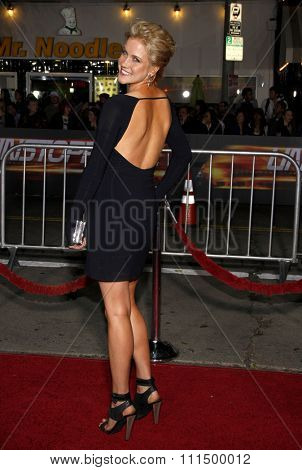 Jessy Schram at the Los Angeles premiere of 'Unstoppable' held at the Regency Village Theatre in Westwood on October 26, 2010.