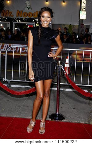 Elizabeth Mathis at the Los Angeles premiere of 'Unstoppable' held at the Regency Village Theatre in Westwood on October 26, 2010.