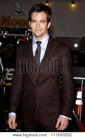 Chris Pine at the Los Angeles premiere of 'Unstoppable' held at the Regency Village Theatre in Westwood on October 26, 2010.