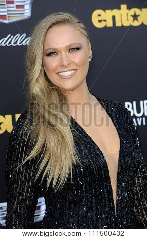 Ronda Rousey at the Los Angeles premiere of 'Entourage' held at the Regency Village Theatre in Westwood on June 1, 2015.