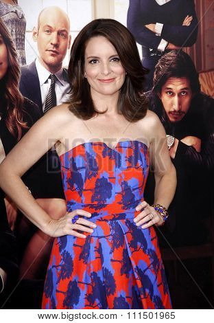 Tina Fey at the Los Angeles premiere of 'This Is Where I Leave You' held at the TCL Chinese Theatre in Los Angeles on September 15, 2014 in Los Angeles, California.