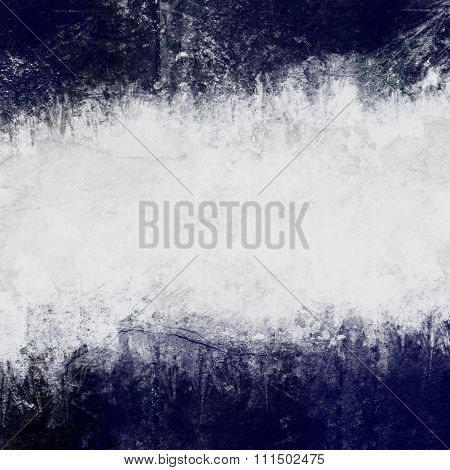 Abstract painted background in dark blue and white