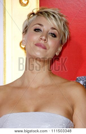 Kaley Cuoco-Sweeting at the Los Angeles premiere of 'The Wedding Ringer' held at the TCL Chinese Theater in Hollywood on January 6, 2015.