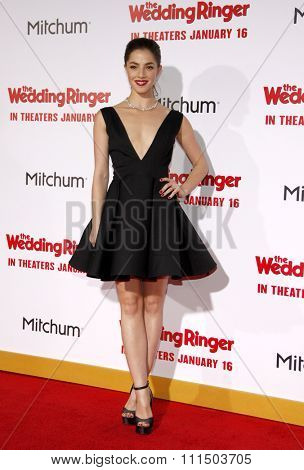 Olivia Thirlby at the Los Angeles premiere of 'The Wedding Ringer' held at the TCL Chinese Theater in Hollywood on January 6, 2015.
