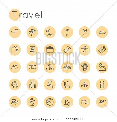 Vector Round Travel Icons