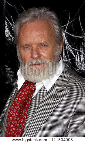 Anthony Hopkins at the Los Angeles premiere of 'The Wolfman' held at the ArcLight Cinemas in Hollywood on February 28, 2010.