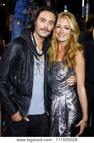 Cat Deeley and Jack Huston at the Los Angeles premiere of 'The Twilight Saga: New Moon' held at the Mann's Village Theatre in Westwood on November 16, 2009.