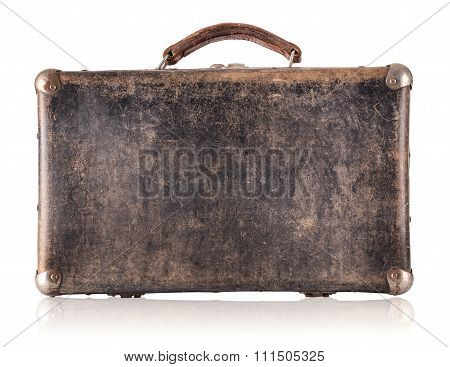 Vintage brown suitcase