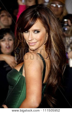 Jennifer Love Hewitt at the Los Angeles premiere of 'The Twilight Saga: Breaking Dawn Part 1' held at the Nokia Theatre L.A. Live in Los Angeles on November 14, 2011.