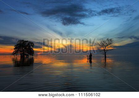 Beautiful sunrise above the sea
