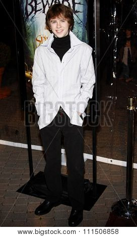 Freddie Highmore at the Los Angeles premiere of 'The Spiderwick Chronicles'  held at the Paramount Studios in Hollywood on January 29, 2008.