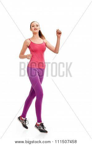 pretty Runner woman full length