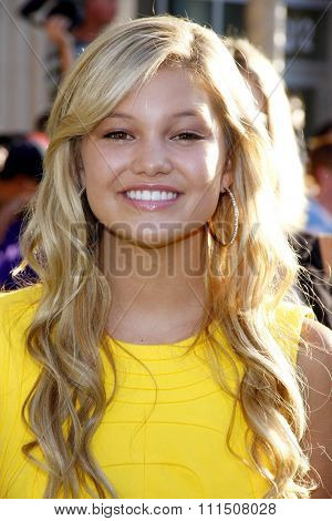 Olivia Holt at the Los Angeles premiere of 'The Odd Life Of Timothy Green' held at the El Capitan Theatre in Hollywood on August 6, 2012.