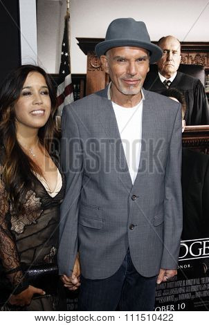 Connie Angland and Billy Bob Thornton at the Los Angeles premiere of 'The Judge' held at the AMPAS Samuel Goldwyn Theater in Los Angeles on October 1, 2014.