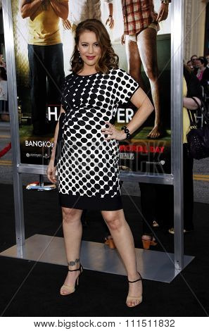 Alyssa Milano at the Los Angeles premiere of 'The Hangover Part II' held at the Grauman's Chinese Theatre in Hollywood on May 19, 2011.