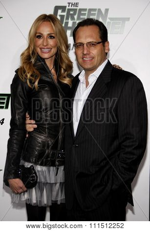 Taylor Armstrong and Russell Armstrong at the Los Angeles premiere of 'The Green Hornet' held at the Grauman's Chinese Theatre in Hollywood on January 10, 2010.