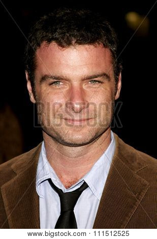 Liev Schreiber at the Los Angeles premiere of 'The Fountain' held at the Grauman's Chinese Theatre in Hollywood on November 11, 2006.