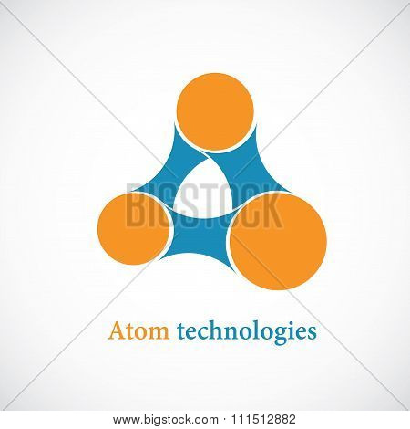 Molecule abstract icon