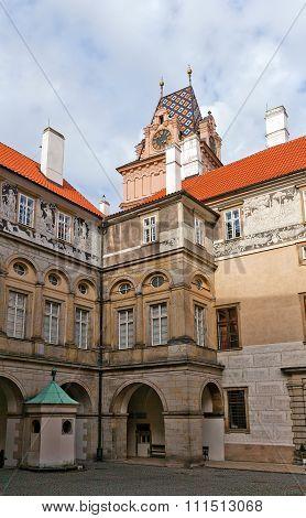 Courtyard Of Brandys Nad Labem Castle, Czech Republic