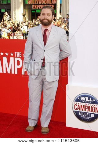 Zach Galifianakis at the Los Angeles premiere of 'Campaign