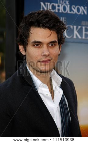 John Mayer at the Los Angeles premiere of 'The Bucket List' held at the ArcLight Cinemas in Hollywood on December 16, 2007.