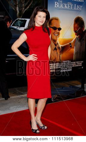 Daphne Zuniga at the Los Angeles premiere of 'The Bucket List' held at the ArcLight Cinemas in Hollywood on December 16, 2007.