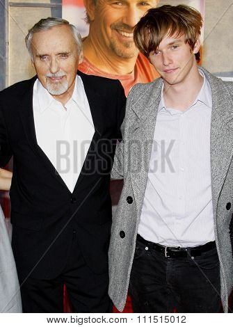 Dennis Hopper at the Los Angeles premiere of 'Swing Vote' held at the El Capitan Theater in Hollywood on July 24, 2008.