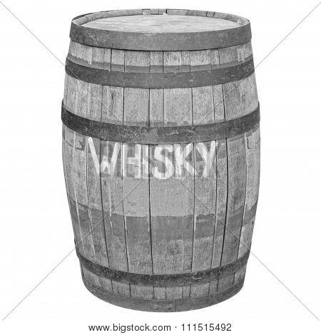 Black And White Barrel Cask