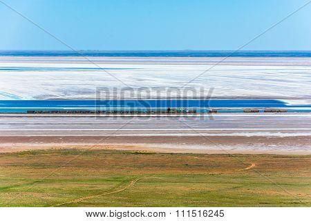 Salt Extraction On Lake Baskunchak.