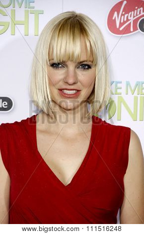 Anna Faris at the Los Angeles premiere of 'Take Me Home Tonight' held at the Regal LA Live Stadium 14 in Los Angeles on March 2, 2011.