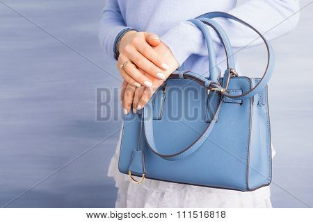 Woman with beautiful purse