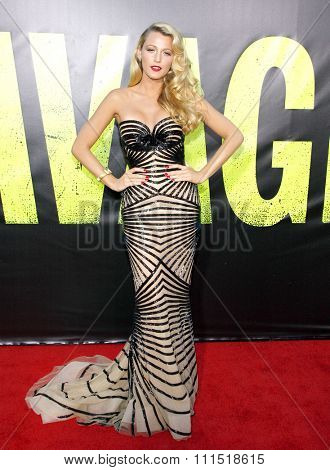Blake Lively at the Los Angeles premiere of 'Savages