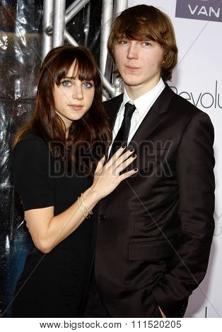 Zoe Kazan and Paul Dano at the Los Angeles premiere of 'Revolutionary Road' held at the Mann Village Theater in Westwood on December 15, 2008.