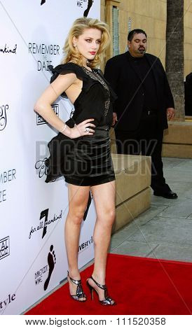 Amber Heard attends the Los Angeles Premiere of