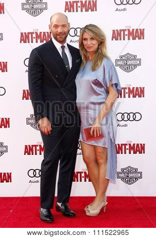 Los Angeles, USA - June 29, 2015: Corey Stoll and Nadia Bowers at the World premiere of Marvel's 'Ant-Man' held at the Dolby Theatre in Hollywood, USA on June 29, 2015.