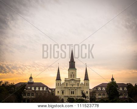 St. Louis Cathedral Sunset