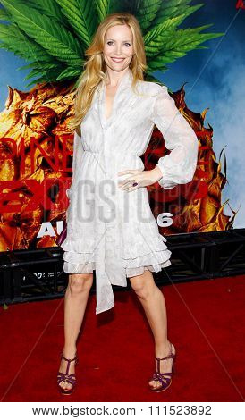 Leslie Mann at the Los Angeles premiere of 'Pineapple Express' held at the Mann Village Theater in Los Angeles on July 31, 2008.