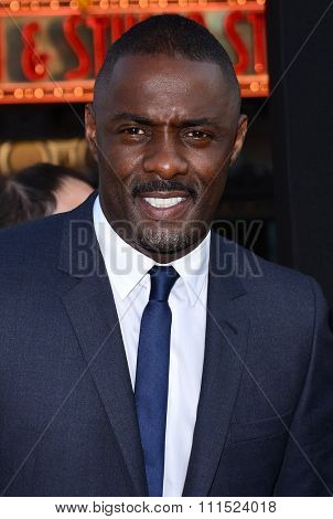 Idris Elba at the Los Angeles premiere of 'Pacific Rim' held at the Dolby Theatre in Hollywood on July 9, 2013 in Los Angeles, California.