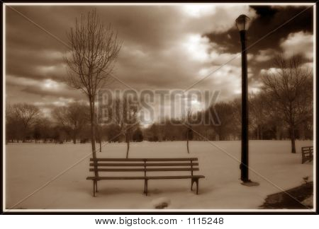 Lonely Bench Ir