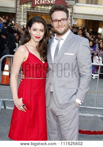 Seth Rogen and Lauren Miller at the Los Angeles premiere of