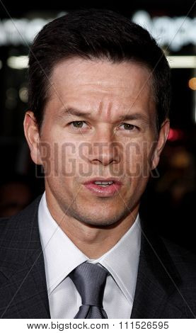 Mark Wahlberg at the Los Angeles premiere of 'Max Payne' held at the Grauman's Chinese Theater in Hollywood on October 13, 2008.