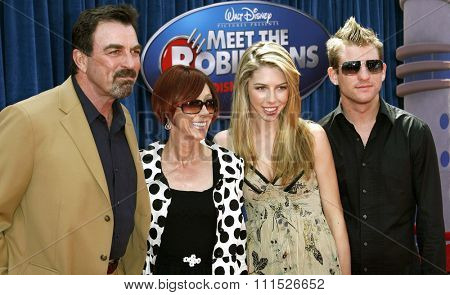 Tom Selleck, Jillie Mack, Hannah Selleck and guest attend the World Premiere of