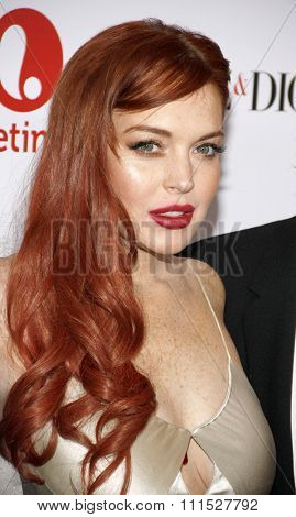 Lindsay Lohan at the Los Angeles premiere of 'Liz & Dick' held at the Beverly Hills Hotel in Beverly Hills on November 20, 2012.