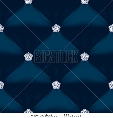 Blue Quilted Seamless Vector Pattern