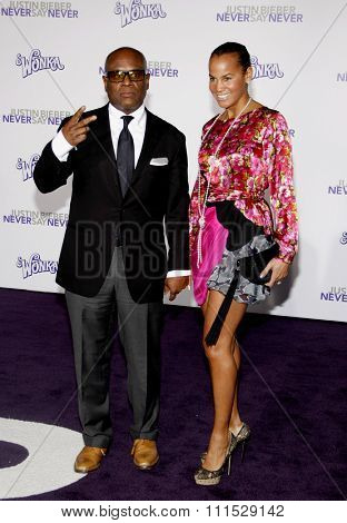 Antonio Reid aka L.A. Reid at the Los Angeles premiere of 'Justin Bieber: Never Say Never' held at the Nokia Theatre L.A. Live in Los Angeles on February 8, 2011.