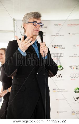 Wim Wenders at the German Films and the Consulate General of the Federal Republic Of Germany's German Oscar nominees reception held at Villa Aurora in Pacific Palisades on February 21, 2015.