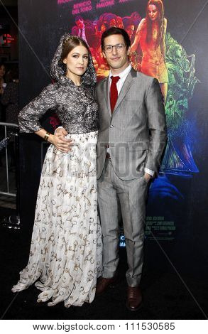 Joanna Newsom and Andy Samberg at the Los Angeles premiere of 'Inherent Vice' held at the TCL Chinese Theatre in Hollywood on December 10, 2014.