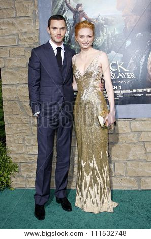 Nicholas Hoult and Eleanor Tomlinson at the Los Angeles premiere of