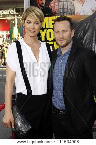 Jenna Elfman and Bodhi Elfman at the Los Angeles premiere of 'Horrible Bosses' held at the Grauman's Chinese Theatre in Hollywood on June 30, 2011.